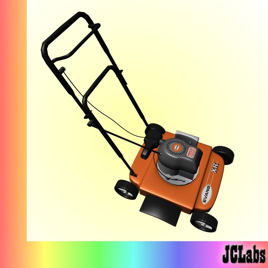 Lawnmower royalty-free 3d model - Preview no. 3