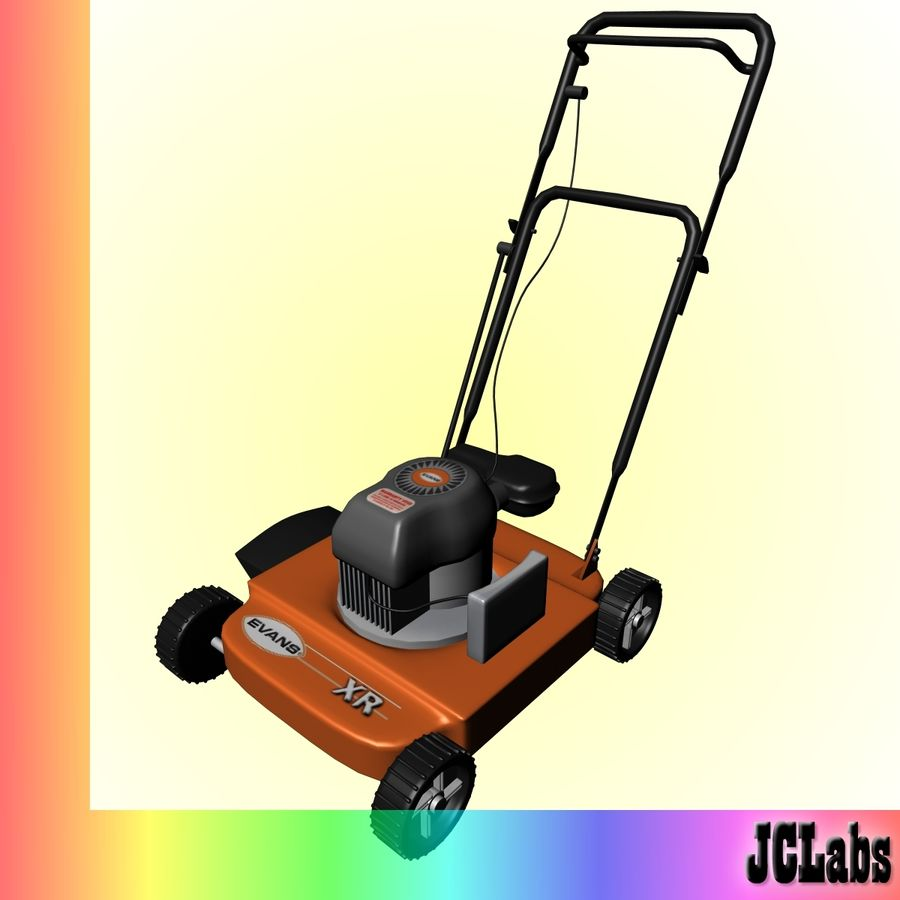 Lawnmower royalty-free 3d model - Preview no. 2