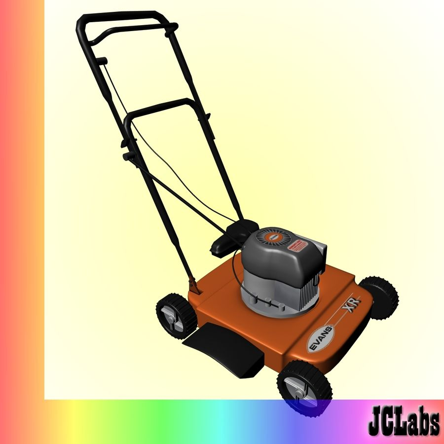 Lawnmower royalty-free 3d model - Preview no. 1
