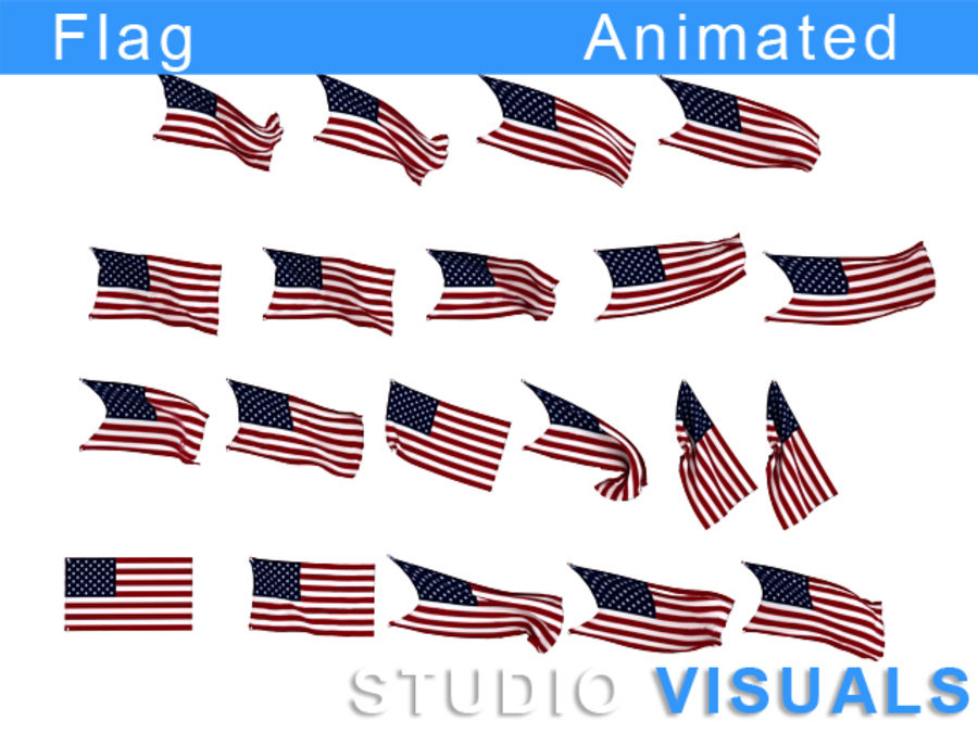 Flag royalty-free 3d model - Preview no. 5