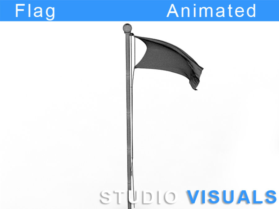 Flag royalty-free 3d model - Preview no. 3