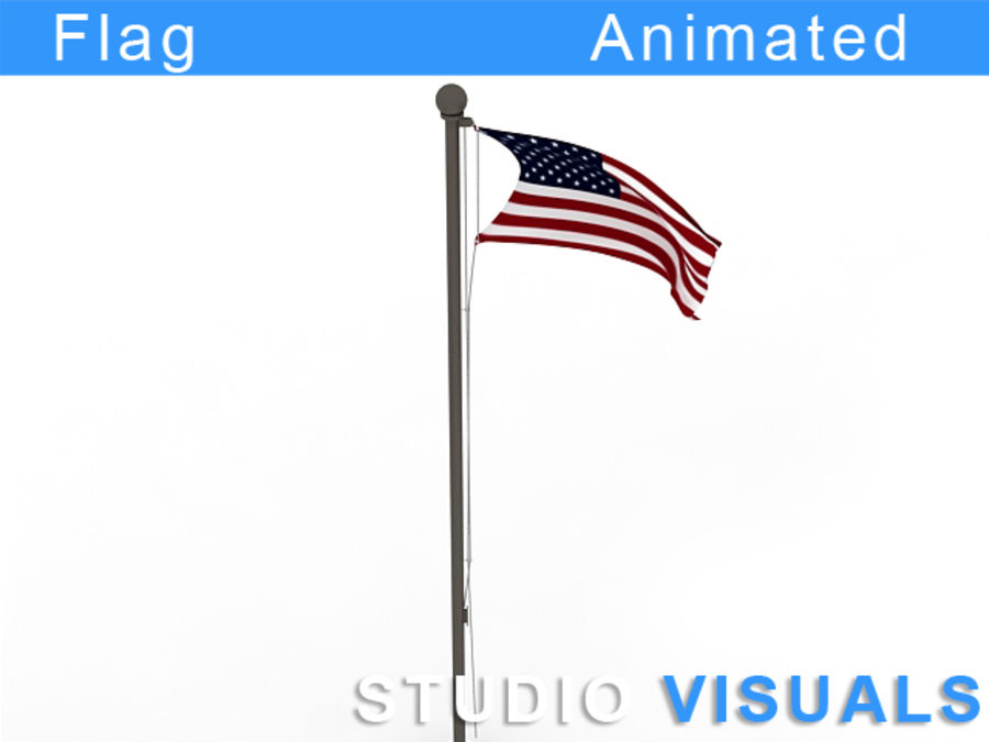 Flag royalty-free 3d model - Preview no. 2