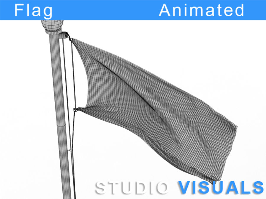 Flag royalty-free 3d model - Preview no. 4