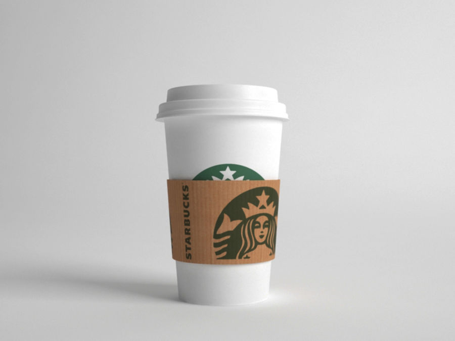 스타 벅스 컵 royalty-free 3d model - Preview no. 5