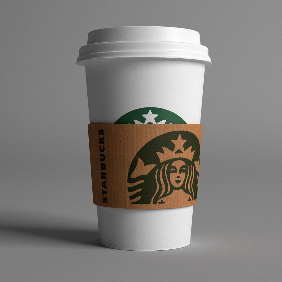 스타 벅스 컵 royalty-free 3d model - Preview no. 3