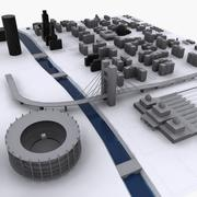 市1 3d model