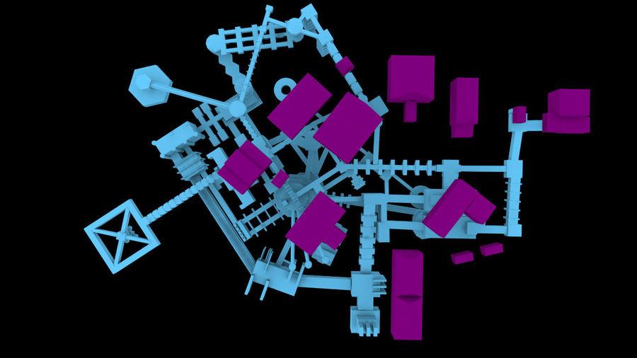 生化危机地下设施-蜂巢 royalty-free 3d model - Preview no. 11