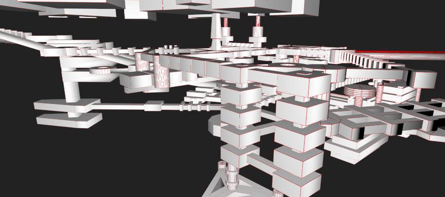 生化危机地下设施-蜂巢 royalty-free 3d model - Preview no. 24