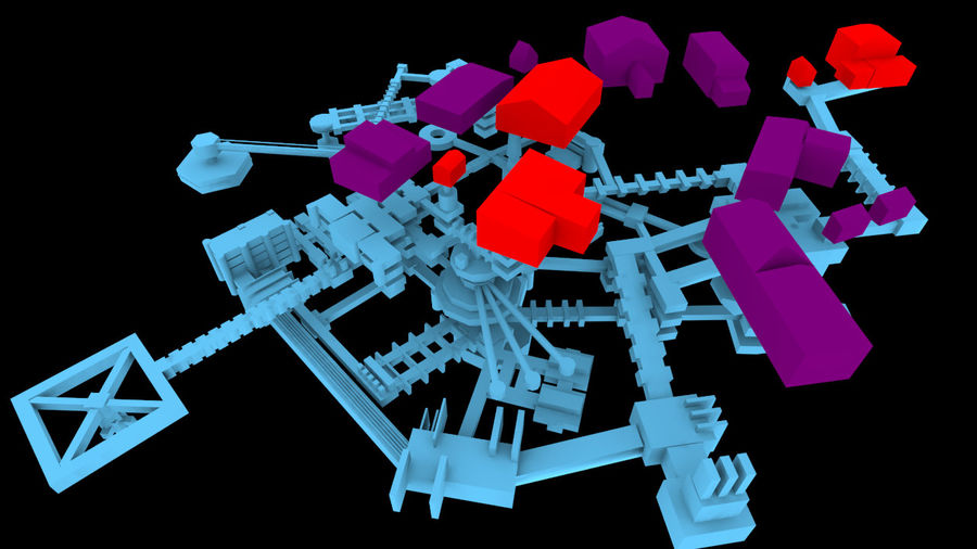 生化危机地下设施-蜂巢 royalty-free 3d model - Preview no. 19