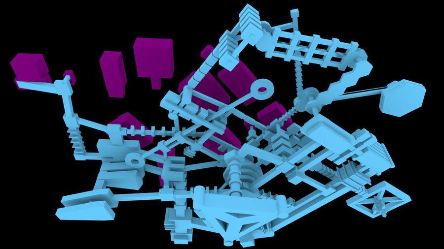 生化危机地下设施-蜂巢 royalty-free 3d model - Preview no. 9