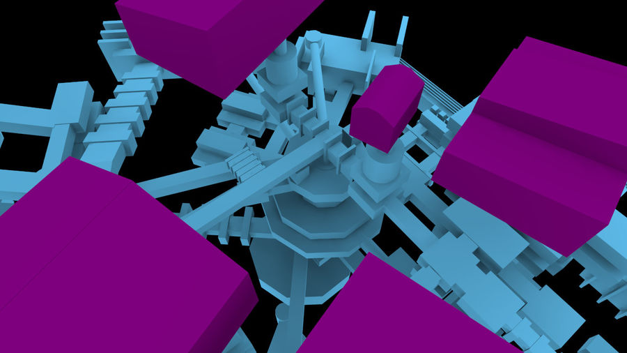生化危机地下设施-蜂巢 royalty-free 3d model - Preview no. 8