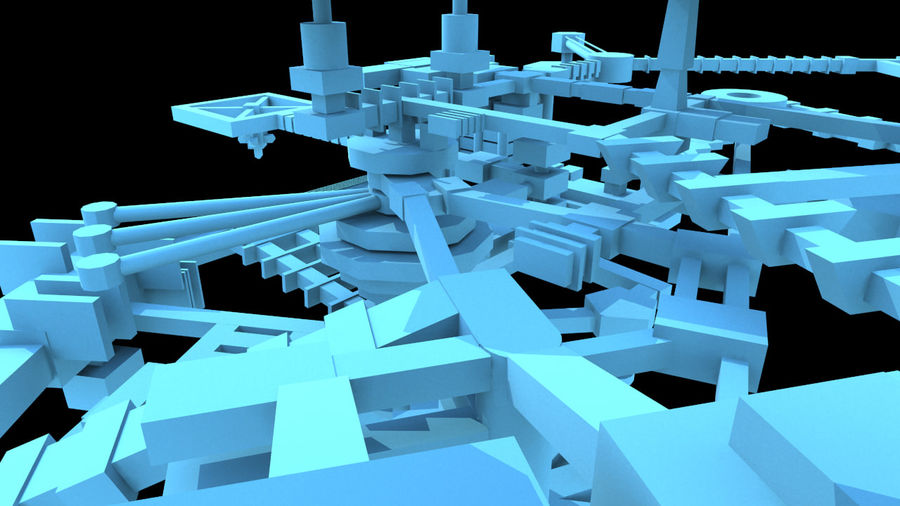 生化危机地下设施-蜂巢 royalty-free 3d model - Preview no. 6