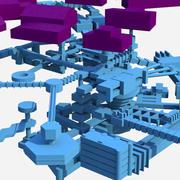 Resident Evil underground facility - Hive 3d model