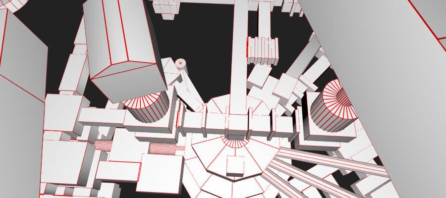 生化危机地下设施-蜂巢 royalty-free 3d model - Preview no. 25