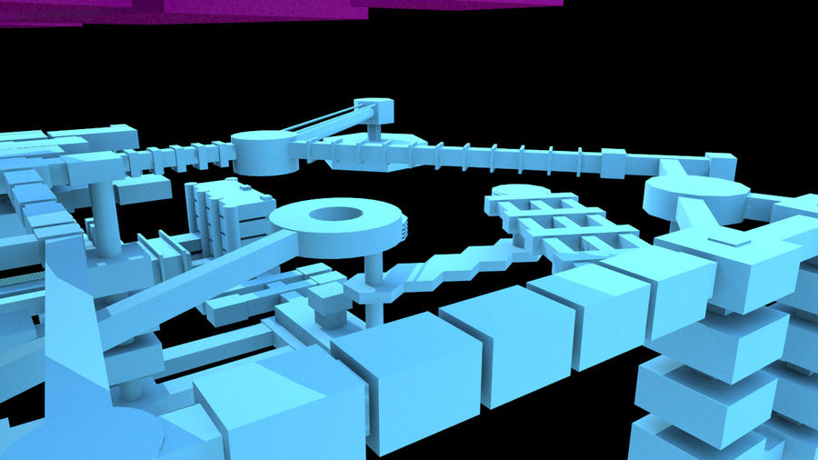 生化危机地下设施-蜂巢 royalty-free 3d model - Preview no. 5