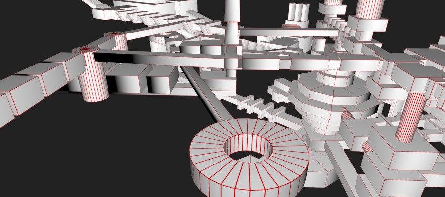 生化危机地下设施-蜂巢 royalty-free 3d model - Preview no. 20