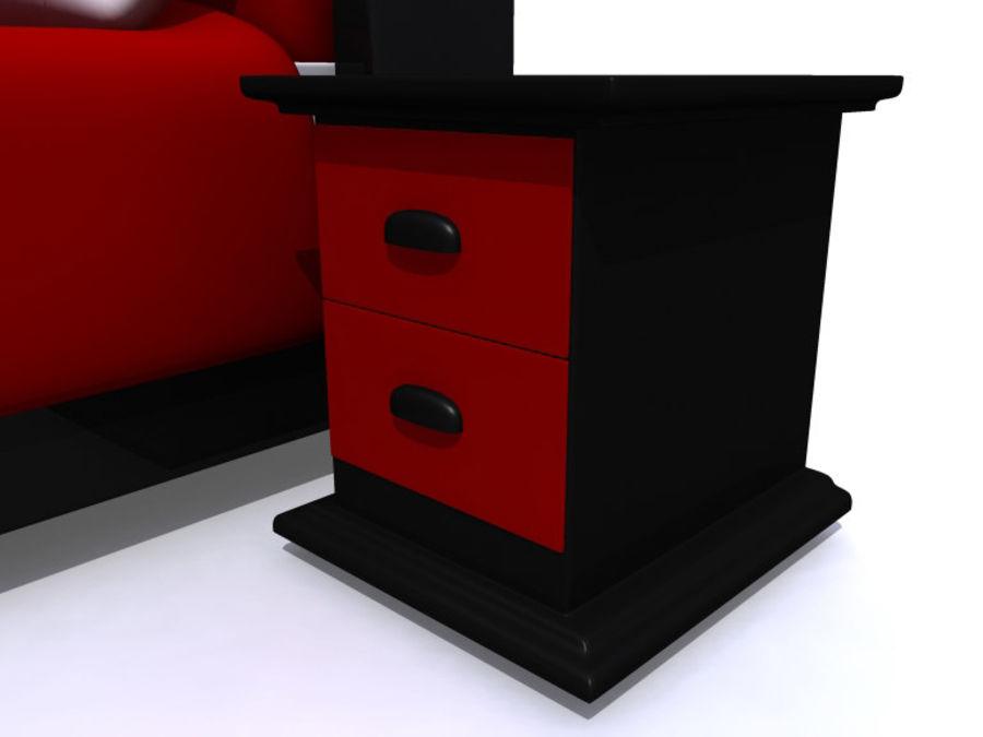 Мебель для спальни royalty-free 3d model - Preview no. 2