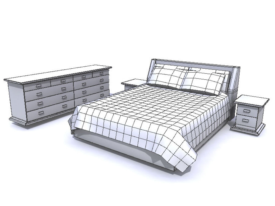 Мебель для спальни royalty-free 3d model - Preview no. 5