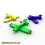 おもちゃのミニ飛行機 3d model