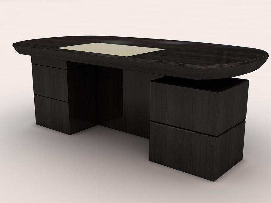 table de bureau royalty-free 3d model - Preview no. 2