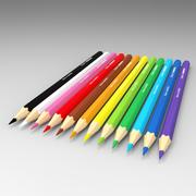 Matite colorate 3d model