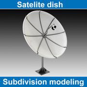위성 접시 3d model