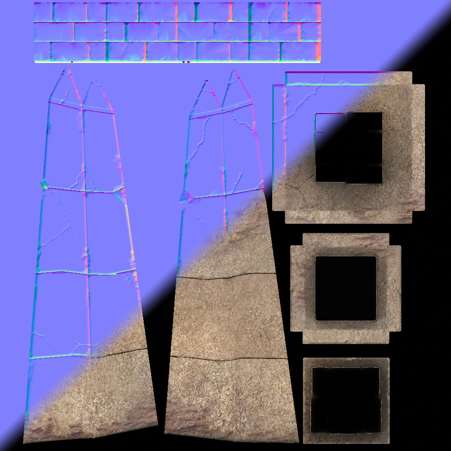 Obelisk Low Poly do gry royalty-free 3d model - Preview no. 10