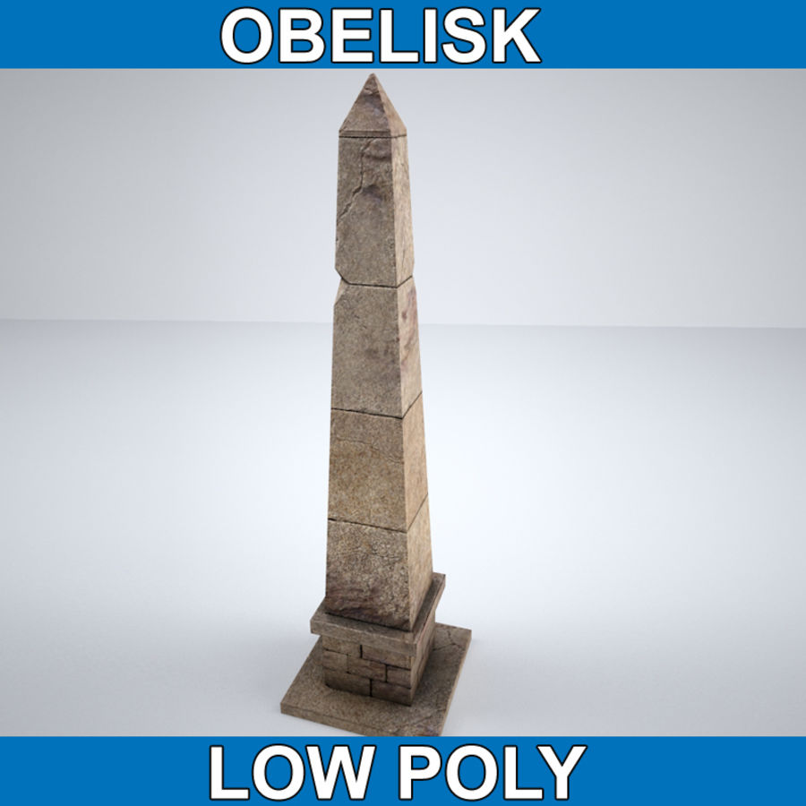 Obelisk Low Poly do gry royalty-free 3d model - Preview no. 1