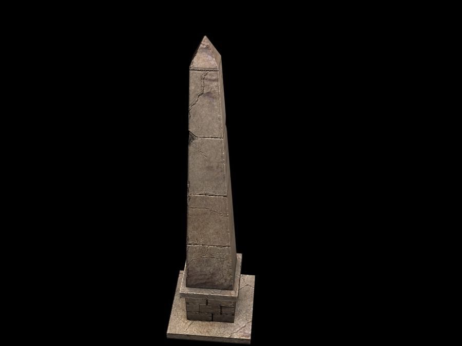 Obelisk Low Poly do gry royalty-free 3d model - Preview no. 6