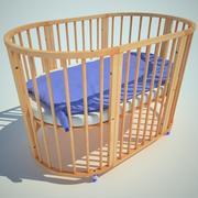 cama de crianças 3d model