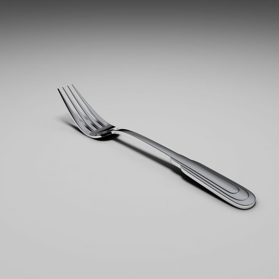 Zepter tafelvork royalty-free 3d model - Preview no. 3