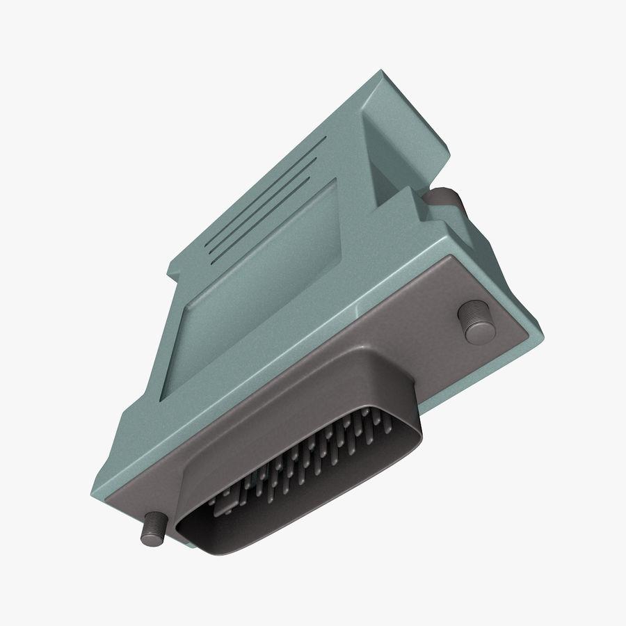 Adaptador DVI VGA royalty-free modelo 3d - Preview no. 1