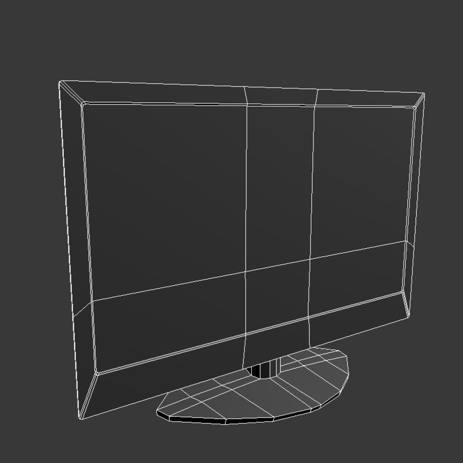LED TV royalty-free 3d model - Preview no. 6