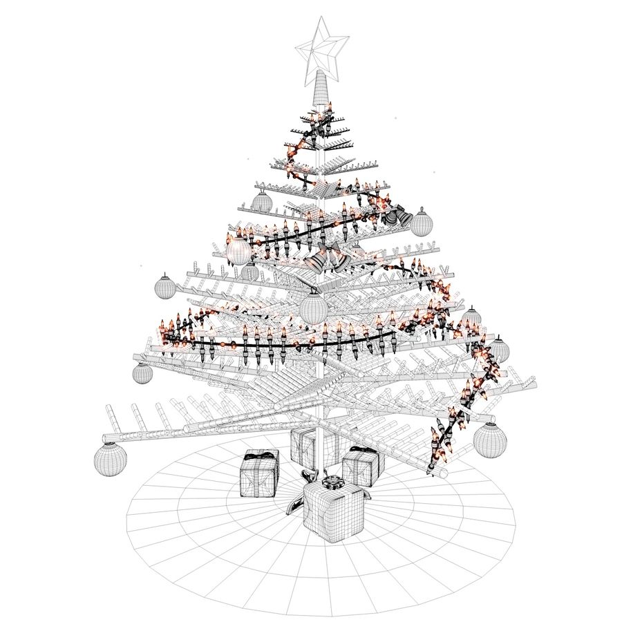 Albero di Natale royalty-free 3d model - Preview no. 6