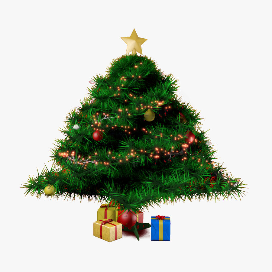 Albero di Natale royalty-free 3d model - Preview no. 1