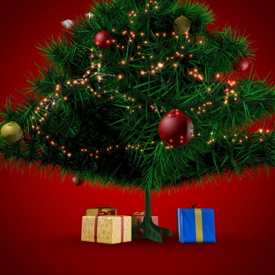 Albero di Natale royalty-free 3d model - Preview no. 3