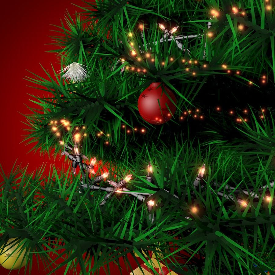 Albero di Natale royalty-free 3d model - Preview no. 4