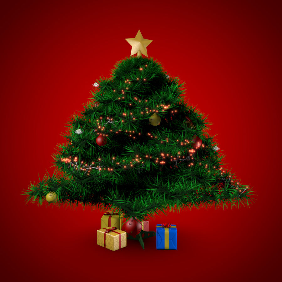 Albero di Natale royalty-free 3d model - Preview no. 2