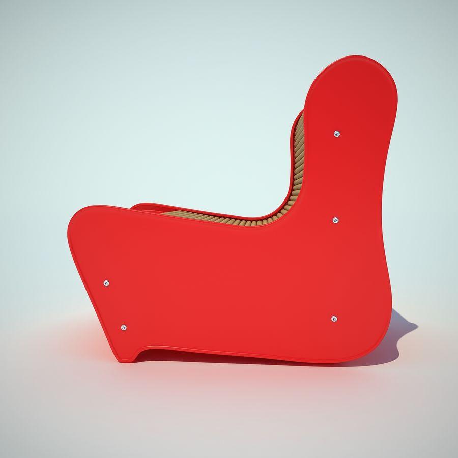 детский стул royalty-free 3d model - Preview no. 5