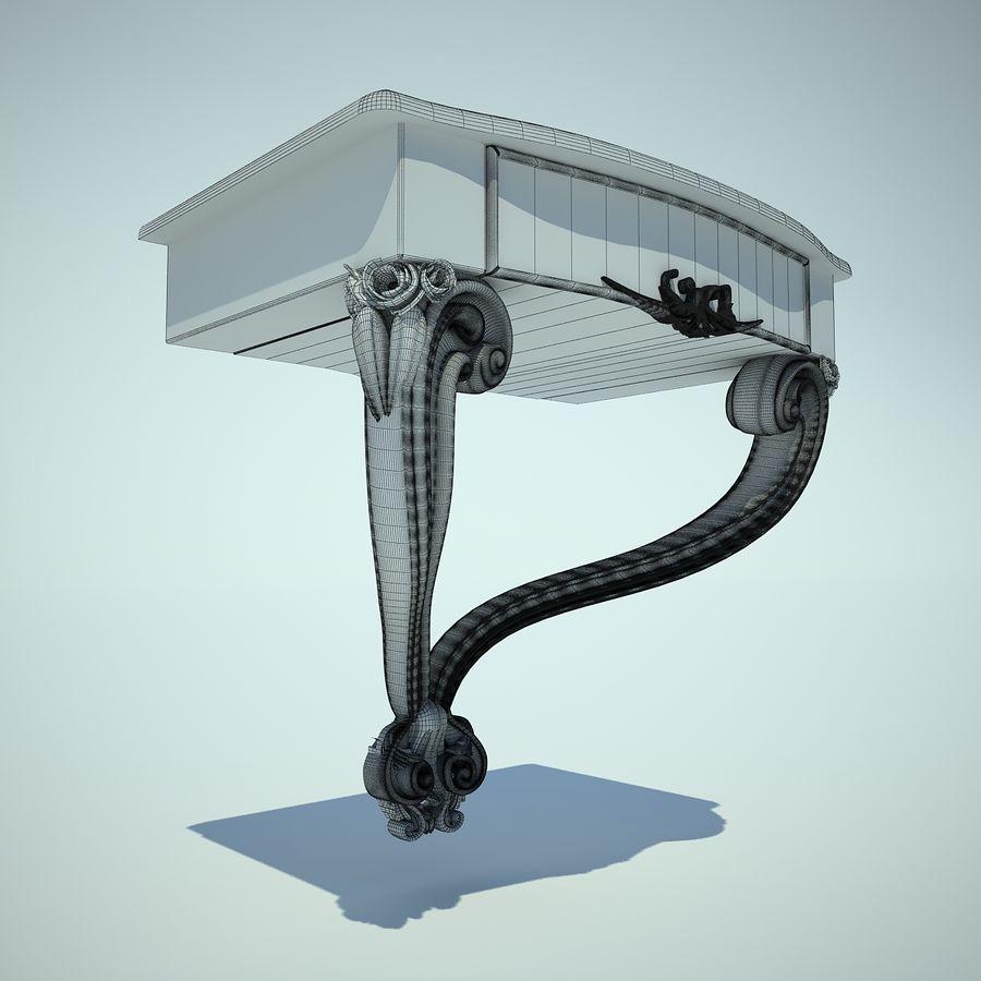 table de chevet royalty-free 3d model - Preview no. 5