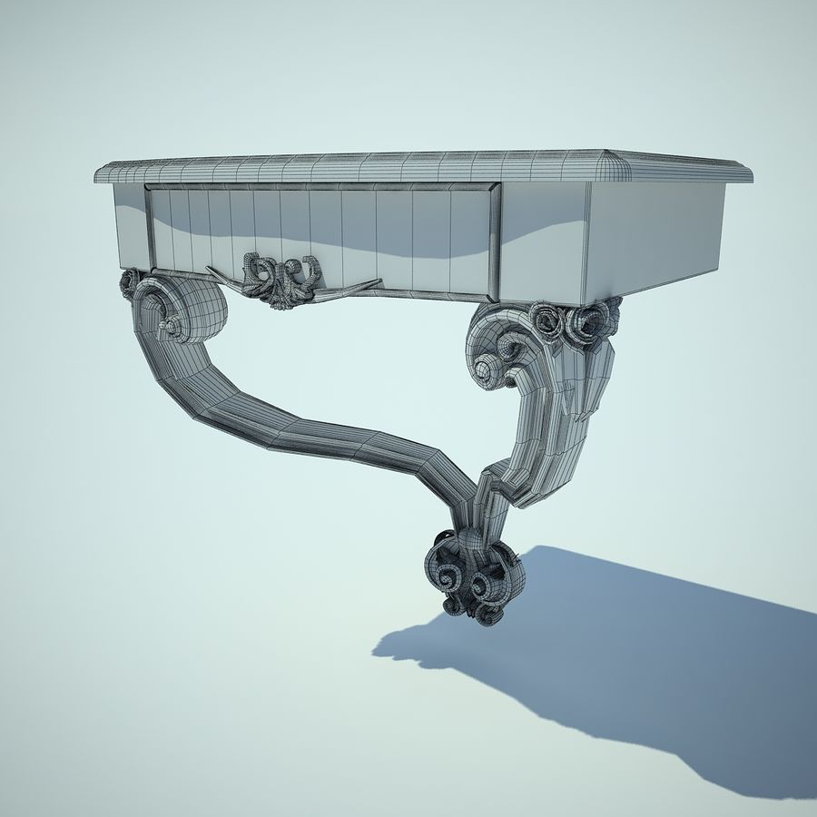 table de chevet royalty-free 3d model - Preview no. 3