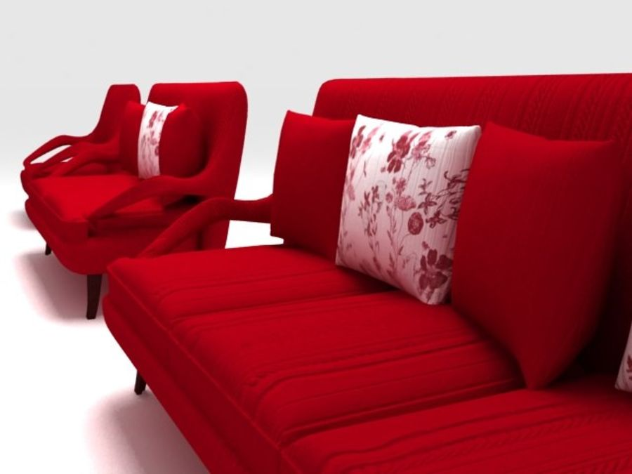 Stuhl und Sofa royalty-free 3d model - Preview no. 5