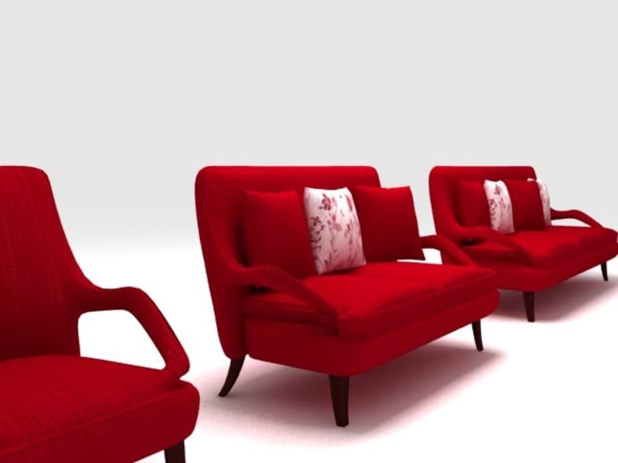 Stuhl und Sofa royalty-free 3d model - Preview no. 4