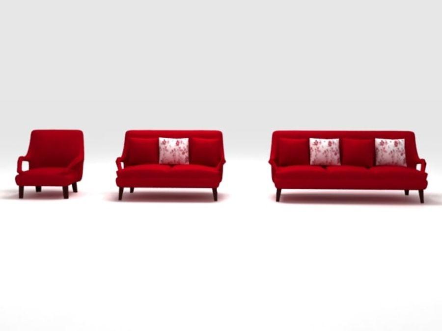 Stuhl und Sofa royalty-free 3d model - Preview no. 3