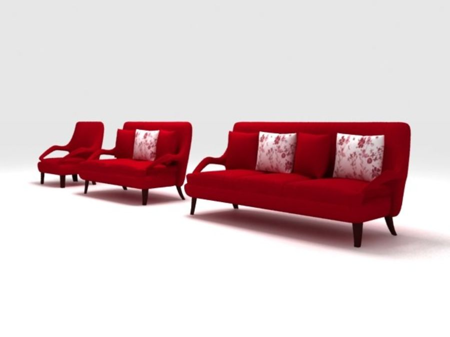 Stuhl und Sofa royalty-free 3d model - Preview no. 1