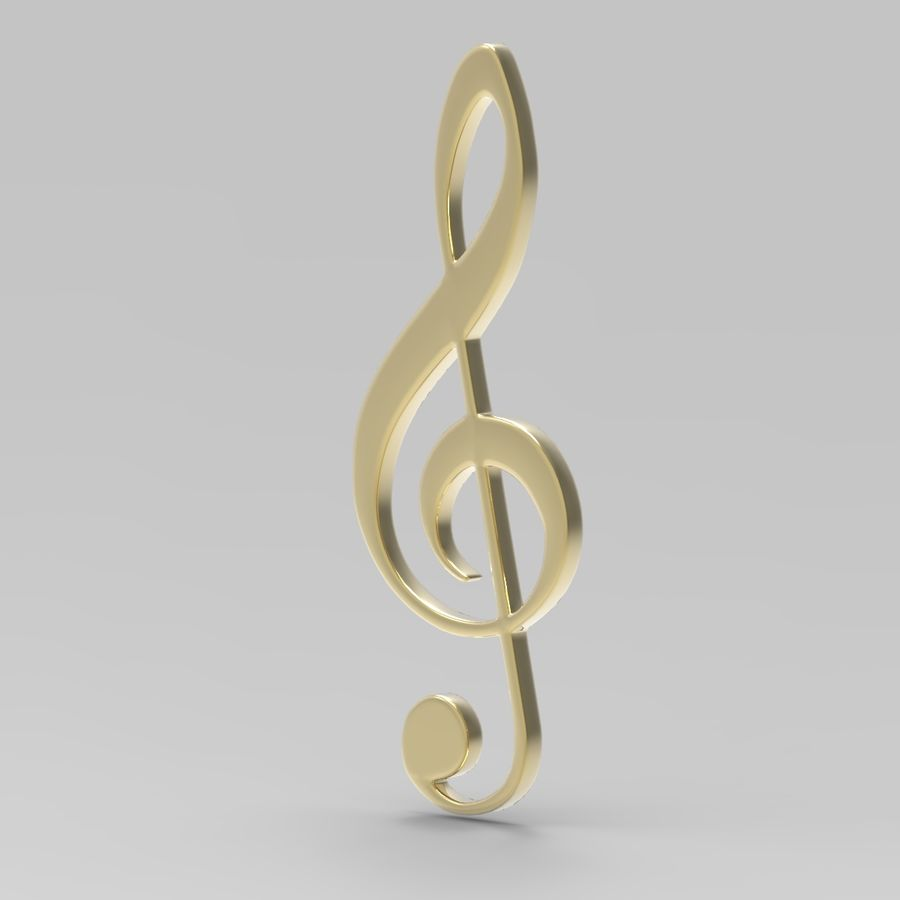 Musical Notes royalty-free 3d model - Preview no. 5