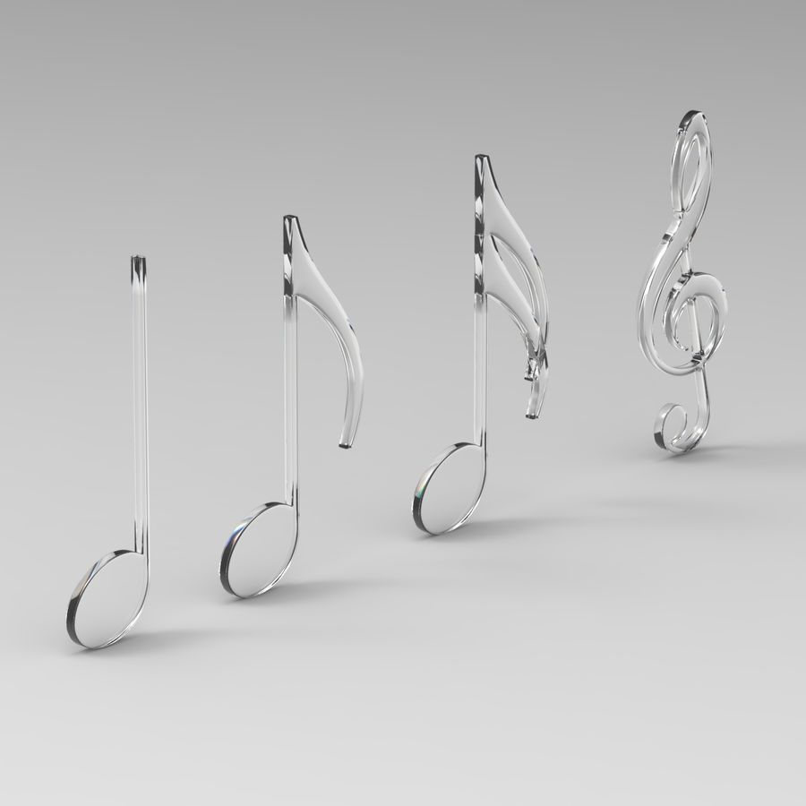 Musical Notes royalty-free 3d model - Preview no. 6