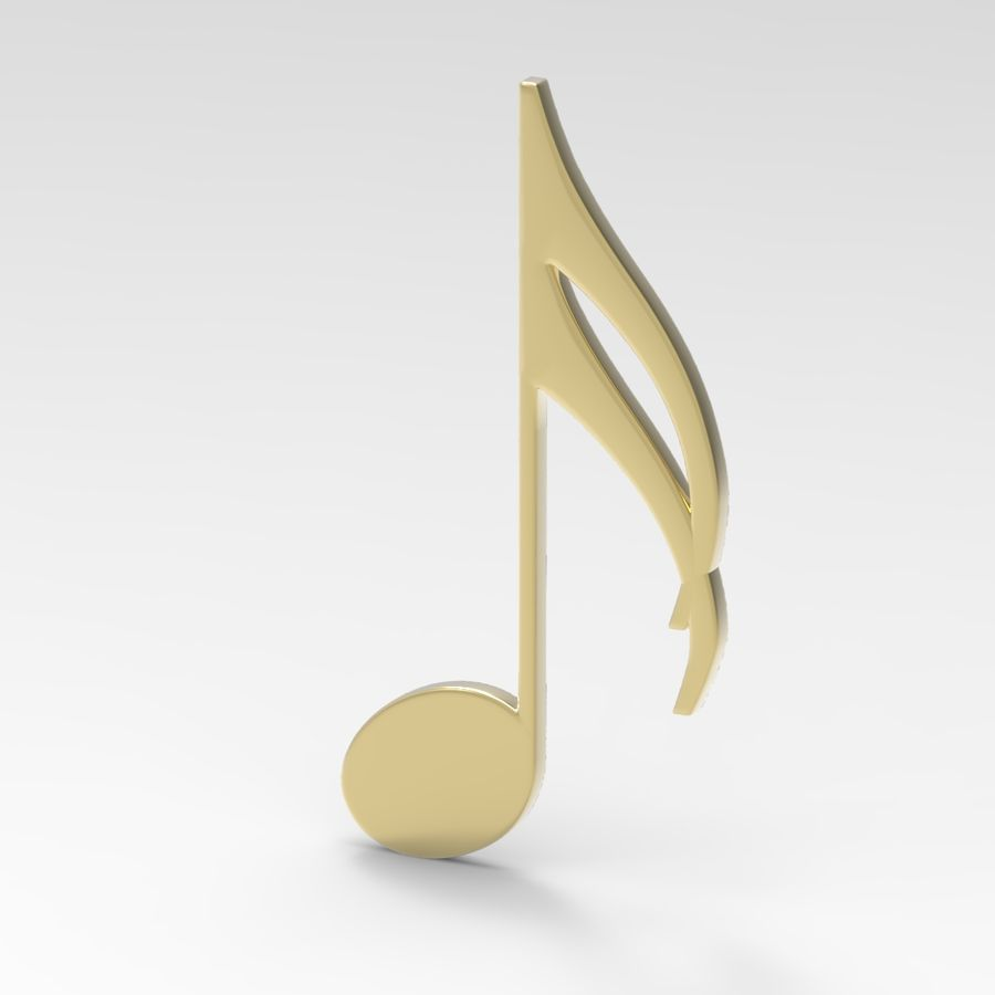 Musical Notes royalty-free 3d model - Preview no. 4