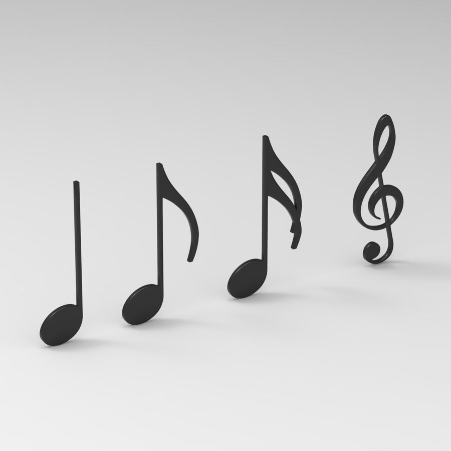 Musical Notes royalty-free 3d model - Preview no. 1