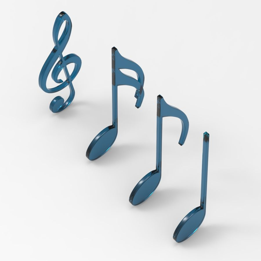 Musical Notes royalty-free 3d model - Preview no. 7